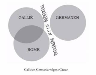 Gallië en Germania volgens Caesar (James Hawes)