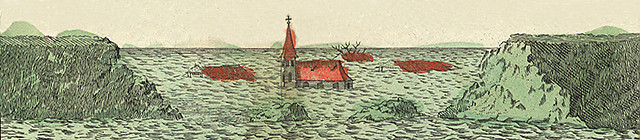 De Kerstvloed van 1717 (Afb: Noordelijk Scheepvaartmuseum)