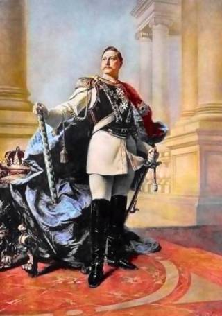 Barok portret van Wilhelm II -  Max Kohner (1890)