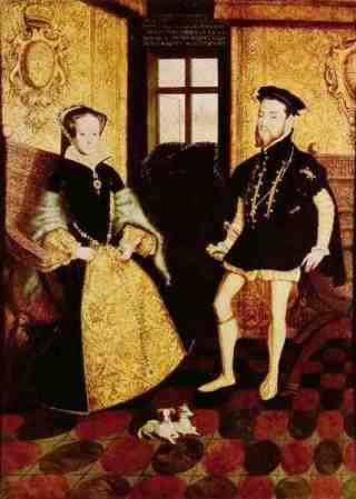 Maria en Filips II in 1554
