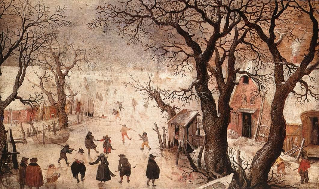 Winterlandschap. ca. 1605 - Hendrick Avercamp (Kunsthistorisches Museum Wenen)