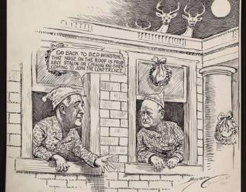 Cartoon van Clifford Berryman. (Library of Congress)