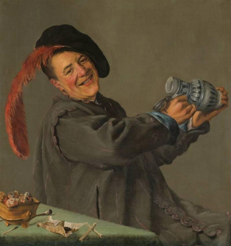 De vrolijke drinker - Judith Leyster, 1629 (Rijksmuseum)
