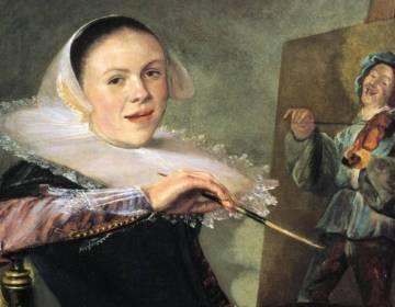 Zelfportret van Judith Leyster, ca. 1630 (detail)