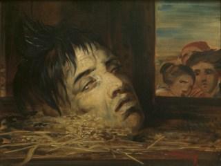 Het geguillotineerde hoofd van François Rosseel geschilderd door Antoine Wiertz. (Antoine Wiertz