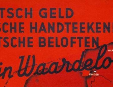 Detail van een anti-Duitse na-oorlogse poster (jhsg.nl)