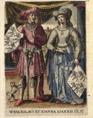 Johanna van Brabant en Wenceslas I
