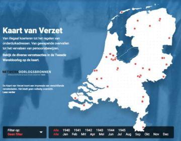 Kaart van Verzet - Netwerk Oorlogsbronnen