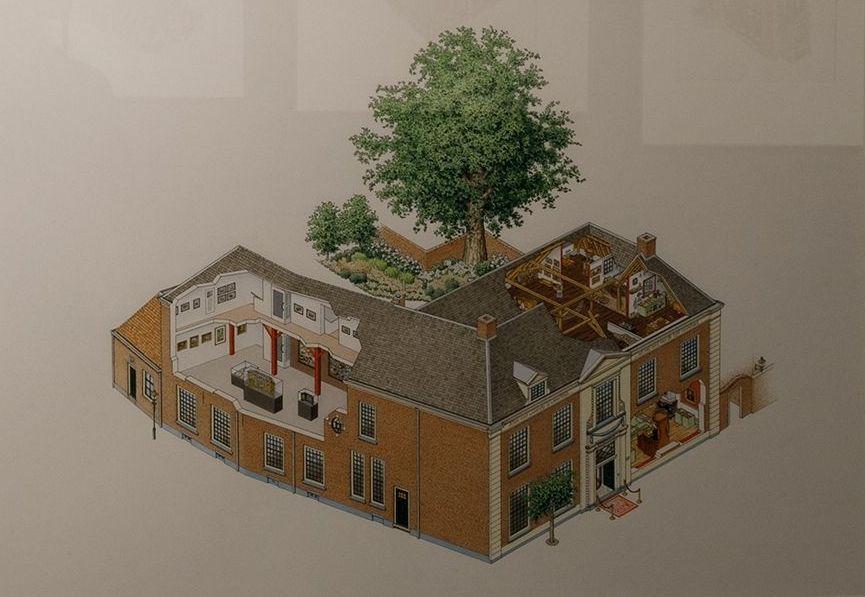 Tekening die Egas van het Stadsmuseum Harderwijk maakte