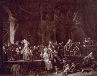 Jan Steen, De bruiloft te Kana, 1653. Paneel, 75 x 91,5 cm. Verblijfplaats onbekend (vermoedelijk verloren gegaan)