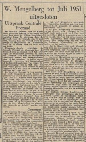 Artikel in Het Parool,  21 oktober 1947