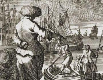 De zeeman in zijn vodden. Met een beetje fantasie zie je de luizen door zijn hoed lopen. (Scheepvaartmuseum)