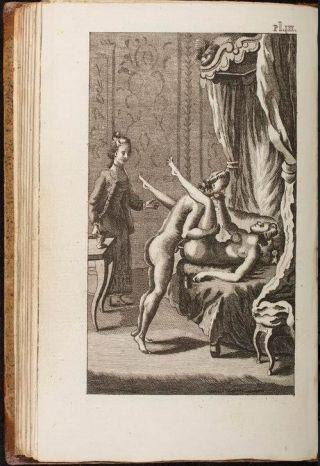 Standje in de 18e eeuw. Uit Academie der Dames, ca. 1770.