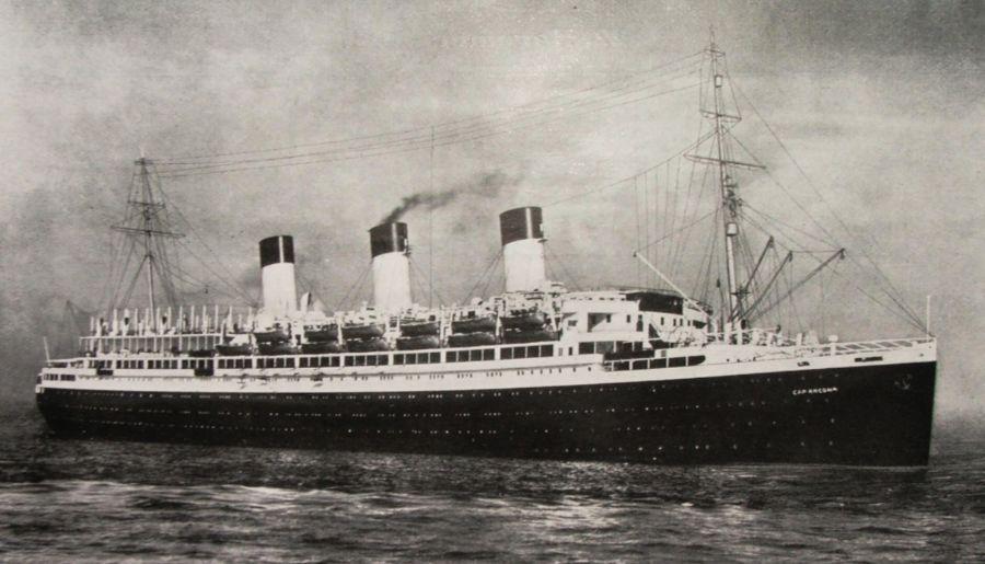 De Cap Arcona in 1927