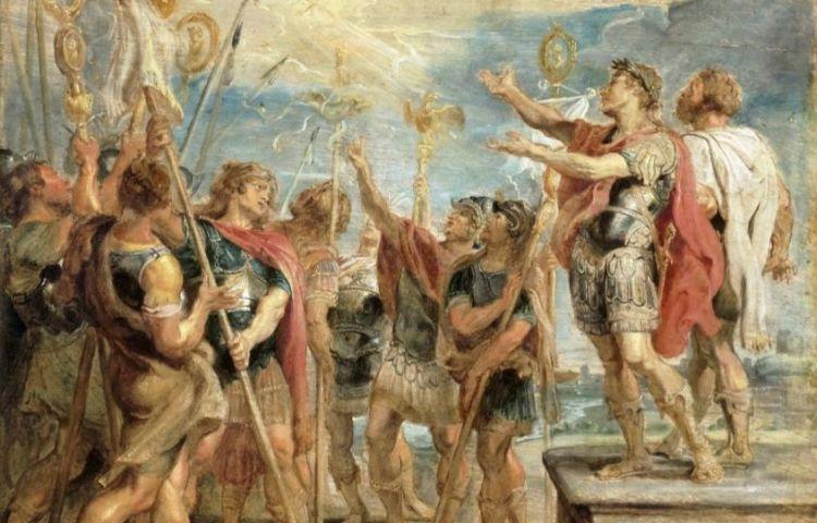 De bekering van Constantijn volgens Peter Paul Rubens