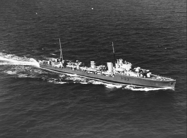 HMS Hereward. Bron: Wilhelmina, werkelijkheid en fictie