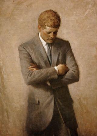 Officieel Witte Huis-portret door Aaron Shikler