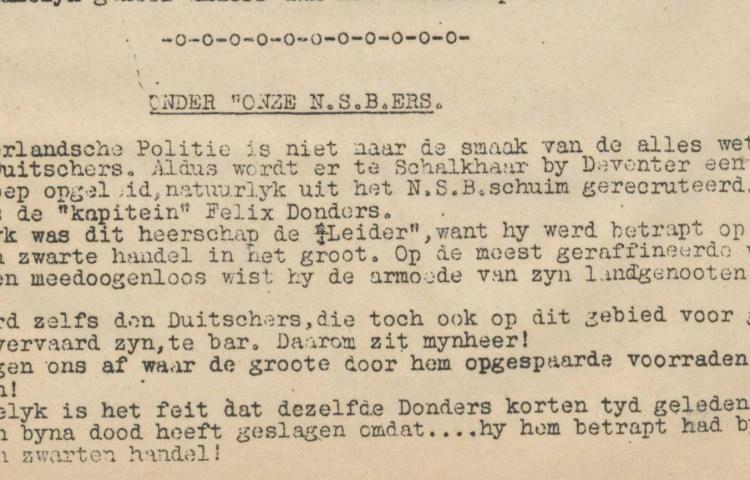 Verzetsblad 'Ons Vaderland', mei 1942 - Bron Delpher