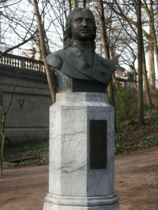 Borstbeeld van Peter de Grote in het park van Brussel (cc - Michel wal)