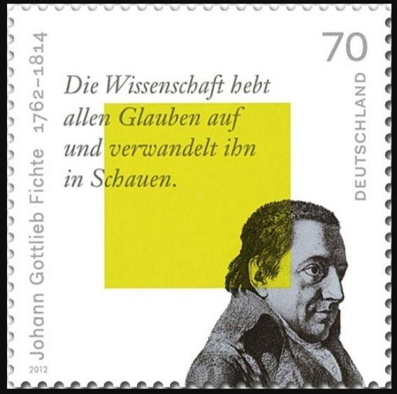 Duitse postzegel met de beeltenis van Johann Gottlieb Fichte (Deutsche Post)