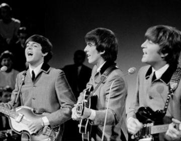 The Beatles voor de VARA-TV in Treslong, Hillegom op 5 juni 1964 (cc - Omroepvereniging VARA)