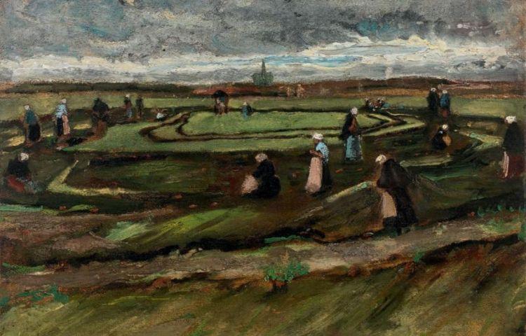 Nettenboetsters in de duinen (1882) - Vincent van Gogh (Artcurial)