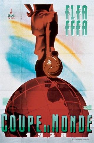 Poster van het WK 1938 - wiki