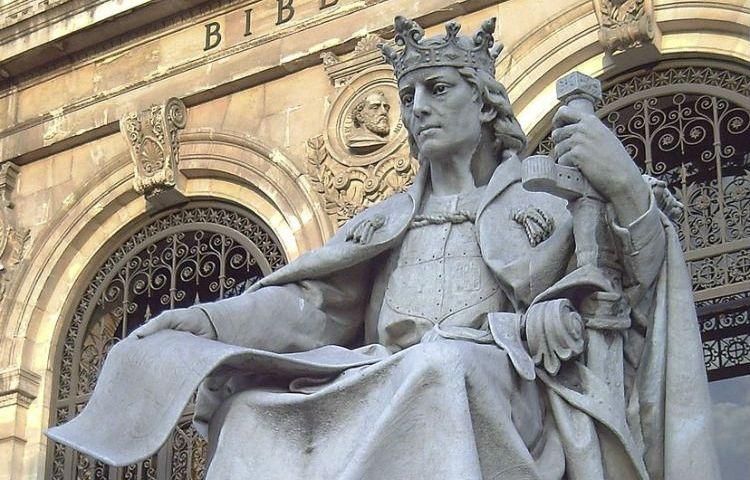 Standbeeld van Alfons X in Madrid (CC BY-SA 2.0 - Luis Garcia - wiki)