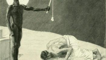 'De Mammon dienen' - Mammon en zijn slaaf, gravure van Johann Jacob Welzer (Publiek Domein - wiki)