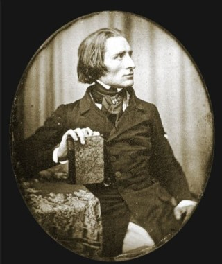 Vroegst bekende foto van Franz Liszt , 1843 (Publiek Domein - Herman Biow)