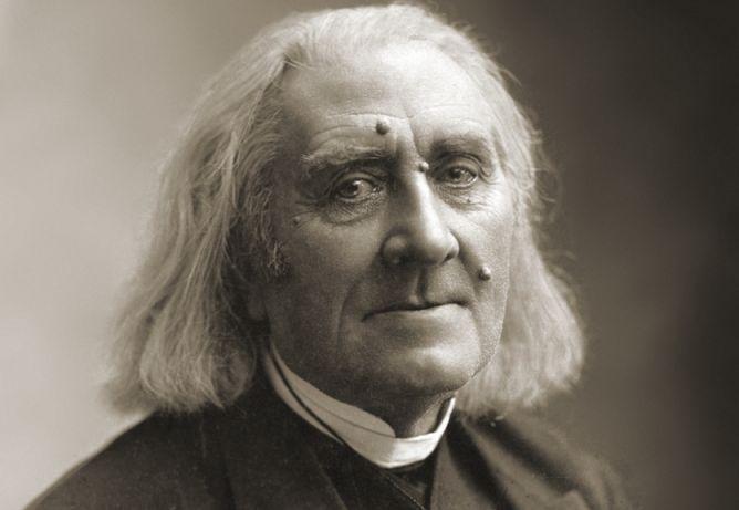Franz Liszt in maart 1886, vier maanden voor zijn dood, foto van Nadar