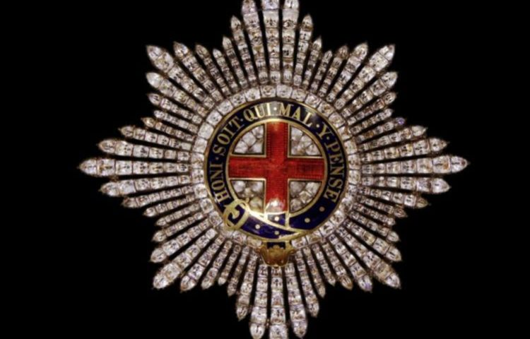 Ster van de Orde van de Kousenband (Publiek Domein - wiki)