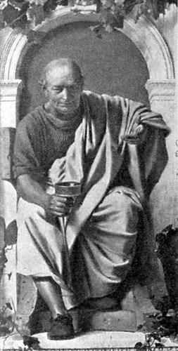 Fantasieportret van Horatius, van de hand van Anton von Werner (1843-1915)