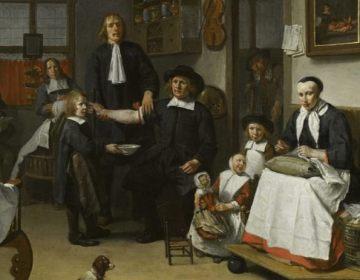 Chirurgijn Jacob Fransz in zijn werkplaats (Egbert van Heemskerk III)