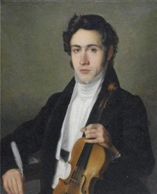 Portret van de jonge Paganini