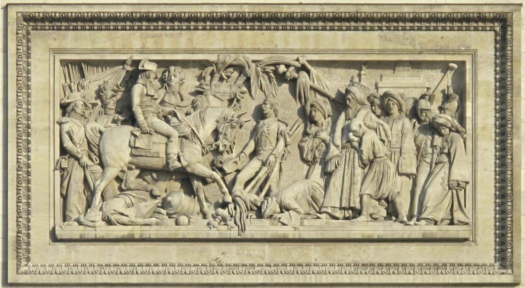 Reliëf op de Arc de Triomphe ter herinnering aan de Slag bij Aboukir van 25 juli 1799 (CC0 - Tangopaso)