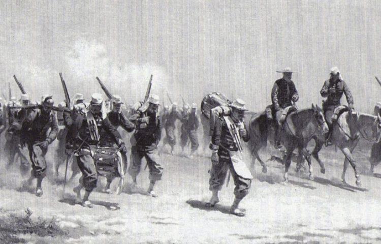 Belgische troepen in Mexico (Publiek Domein - wiki)