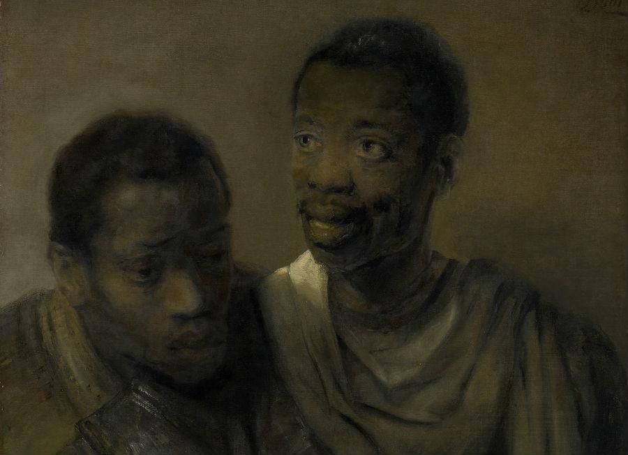 Twee Afrikaanse mannen (Twee Moren), detail - Rembrandt van Rijn - Collectie Mauritshuis