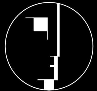 Bauhaus-logo, in 1922 ontworpen door Oskar Schlemmer