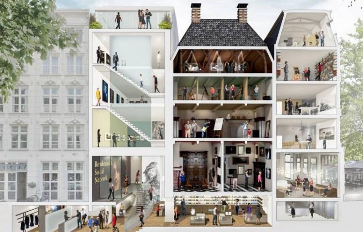 Impressie van het vernieuwde museum (Museum Het Rembrandthuis)