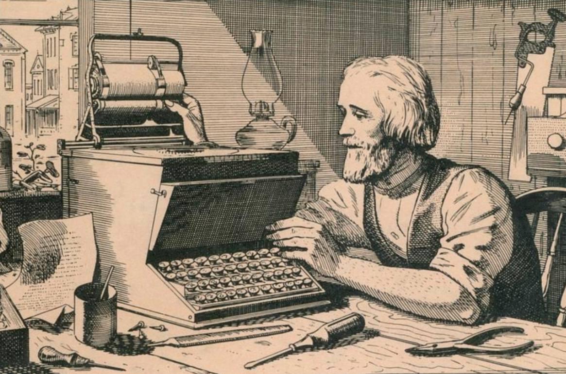 Christopher Sholes en het QWERTY-toetsenbord
