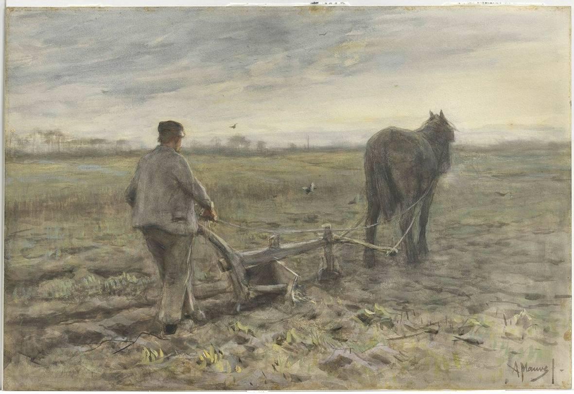 Singer Laren erft aquarel Anton Mauve