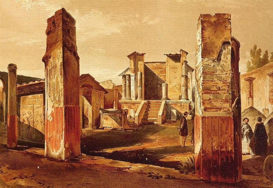 Pompeii als lithografie