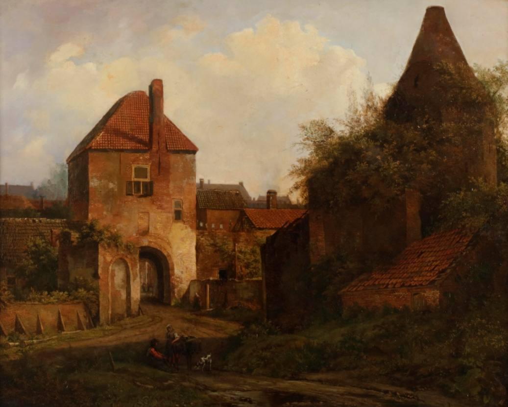 Stadsmuseum Rhenen verwerft onbekend schilderij Rijnpoort