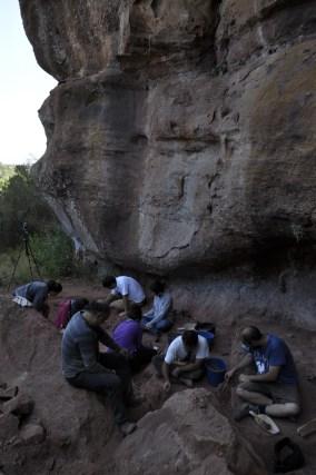 Equip de l'excavació. Foto: equip de la excavació (IPHES)