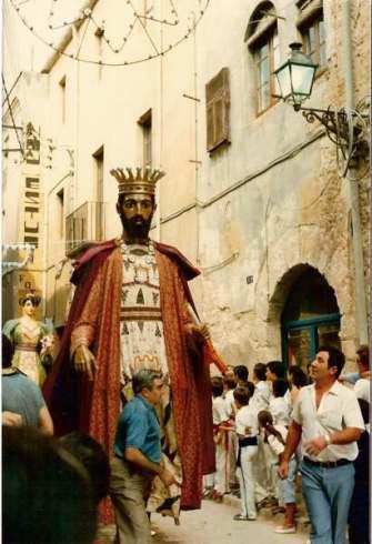 El Gegant a les Festes de la Serra del 1981.