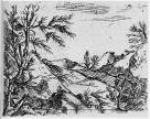 Salvator Rosa; Landscape; etching and drypoint; 91 x 116 mm; Hamburg