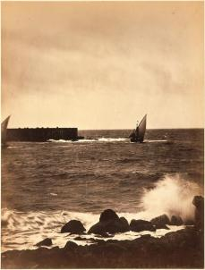 Gustave Le Gray; The Broken Wave; 1856-1859; albumen print from wet collodion negatives; Sterling and Francine Clark Art Institute. Dept. of prints, Drawings and Photographs, Williamstown, MA
