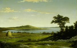 Martin Johnson Heade; Rhode Island Shore; 1858; oil on canvas; 51.44 x 81.92 cm; Los Angeles County Museum of Art