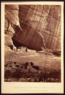 Timothy H. O'Sullivan; Ancient Ruins in the Canon de Chelle, New Mexico; 1873; albumen print; 27.5 x 20.3 cm; George Eastman House, Rochester, NY